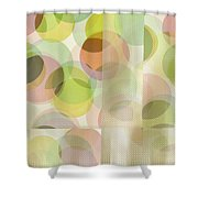 Circle Pattern Overlay II Shower Curtain