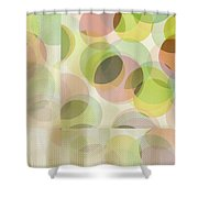 Circle Pattern Overlay Shower Curtain