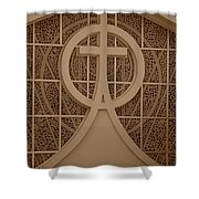Circle T Church Shower Curtain
