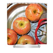 Circles 1 - Apples Shower Curtain