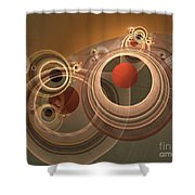Circles And Rings Shower Curtain