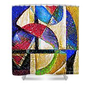 Circles And Shapes Shower Curtain