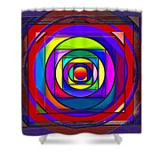 Circles And Squares Abstract Shower Curtain