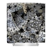 Circles And Stars Shower Curtain