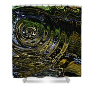 Circles And Swirls Shower Curtain