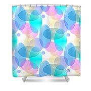 Circles In Pastel Shower Curtain
