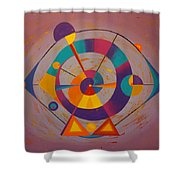 Circles In Space Shower Curtain