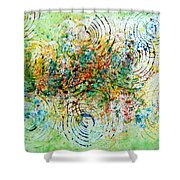 Circles Of Life Shower Curtain