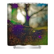 Circles Of Light And Color Shower Curtain