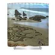 Circles Of Sand 2 Shower Curtain