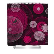 Circles Within Circles Shower Curtain
