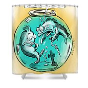 Circling The Drain. Shower Curtain