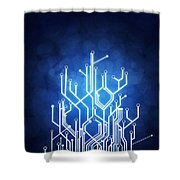 Circuit Board Technology Shower Curtain