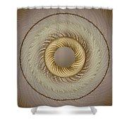 Circular Abastract Art 5 Shower Curtain