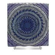 Circular Abstract 9 Shower Curtain