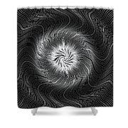 Circular Abstract Art 7 Shower Curtain