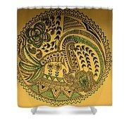 Circular Artwork Shower Curtain
