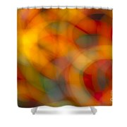 Circular Flow Christmas Abstract Shower Curtain