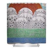 Circular Landscape Shower Curtain