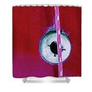 Circular Rojo Shower Curtain