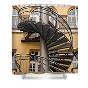 Circular Staircase Shower Curtain