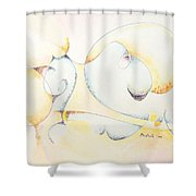 Circular Thoughts Shower Curtain