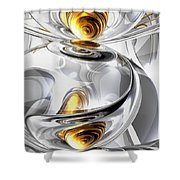 Circumvoluted Abstract Shower Curtain