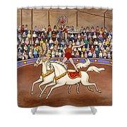 Circus Bareback Riders Shower Curtain