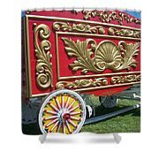 Circus Car In Red And Gold Shower Curtain