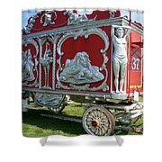 Circus Car In Red And Silver Shower Curtain