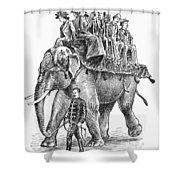 Circus: Elephant, C1901 Shower Curtain