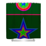 Circus Green Shower Curtain
