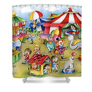 Circus In Town Shower Curtain