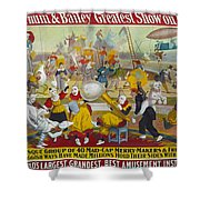 Circus Poster, 1903 Shower Curtain