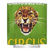 Circus Poster, 1940s Shower Curtain
