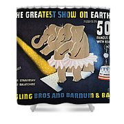 Circus Poster, 1942 Shower Curtain
