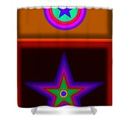 Circus Star Shower Curtain