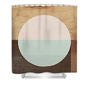 Cirkel In Peach And Mint- Art By Linda Woods Shower Curtain by Linda Woods