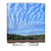 Cirrocumulus Clouds Over Mt. Mclaughlin Shower Curtain