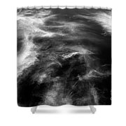 Cirrus Clouds With Nature Patterns  Shower Curtain