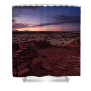 Citadel Sunset Shower Curtain by Mike  Dawson