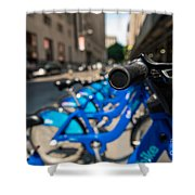 Citibike Handle Manhattan Color Shower Curtain