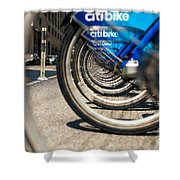 Citibike Manhattan Shower Curtain