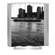 Cities And Rivers Ny1 Shower Curtain