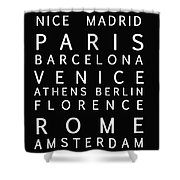 Cities Of Europe Shower Curtain