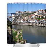 Cities Of Porto And Gaia In Portugal Shower Curtain