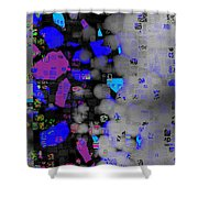 Citified Fog Shower Curtain