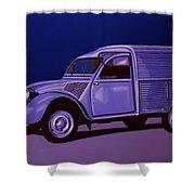 Citroen 2cv Azu 1957 Painting Shower Curtain