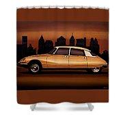 Citroen Ds 1955 Painting Shower Curtain