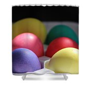 Citrus And Ultra Violet Easter Eggs Shower Curtain
